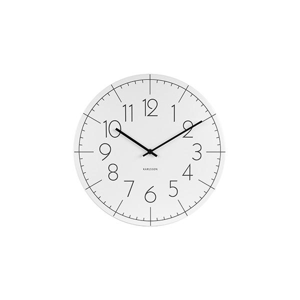 Nástěnné hodiny Blade M - bílé