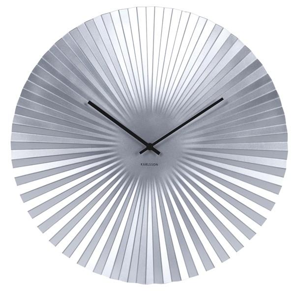 Nástěnné hodiny Sensu XL - stříbrné