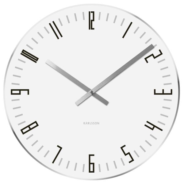 Nástěnné hodiny Slim Index L - bílé