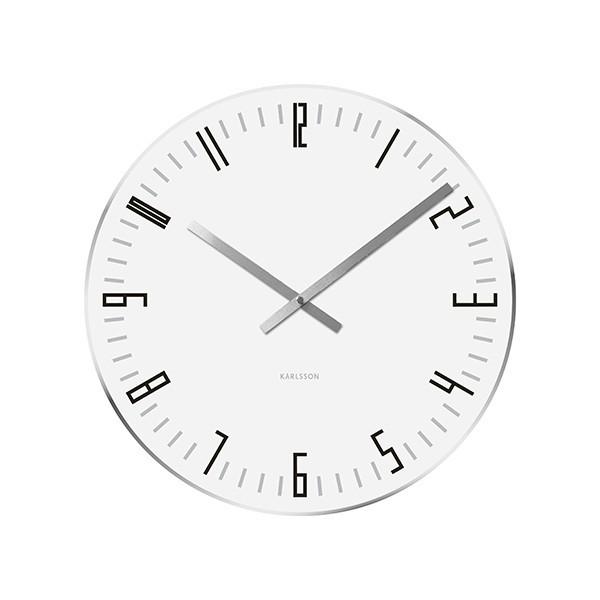 Nástěnné hodiny Slim Index M - bílé