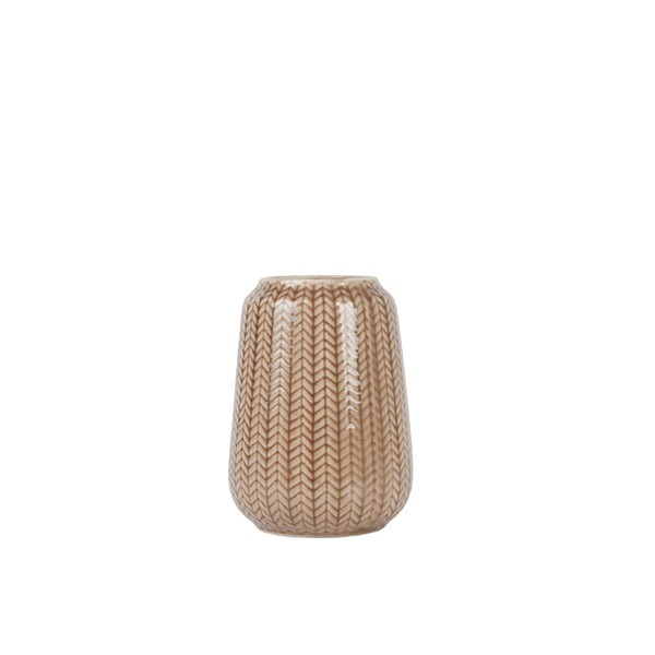 Sada 2 ks − Váza Knitted S – hnědá Present Time