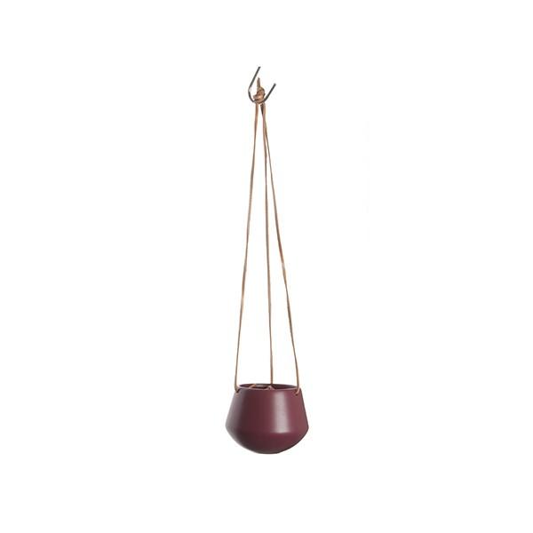 Závěsný keramický květináč Skittle S - červený