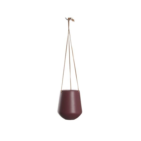 Závěsný keramický květináč Skittle M - červený