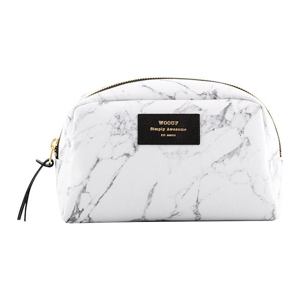 Velká kosmetická taštička White marble
