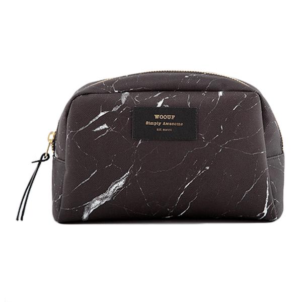 Velká kosmetická taštička – Black marble