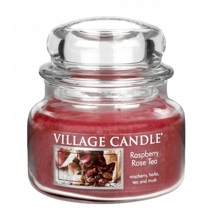 Vonná svíčka ve skle Maliny a čajová růže Village candle