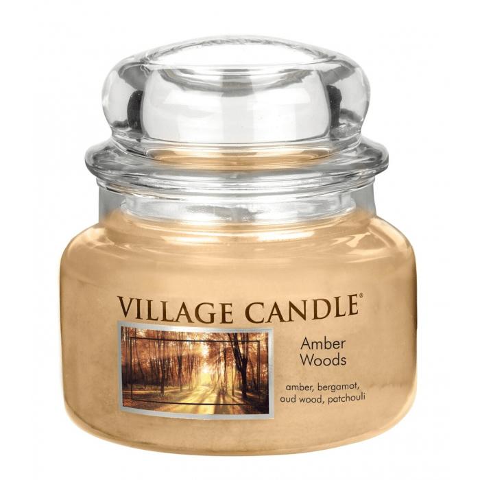 Vonná svíčka ve skle Jantarové tóny lesa