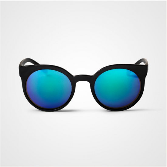 Sluneční brýle PADANG - černé s modrými skly