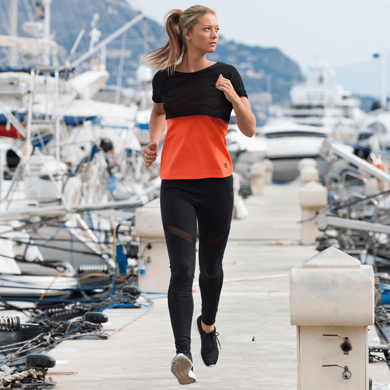 Oranžové triko Ellasweet - Caroline - XS