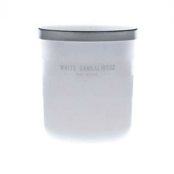 Vonná svíčka ve skle Bílé santalové dřevo malá DW Home