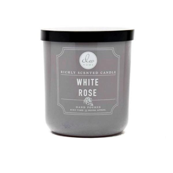 Vonná svíčka ve skle Bílá růže malá DW Home