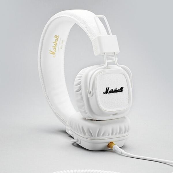 Luxusní sluchátka Major II – bílé