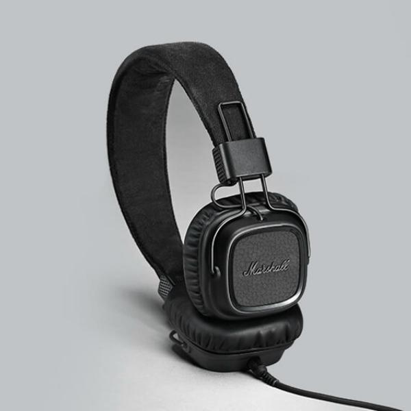 Luxusní sluchátka Major II – černočerné