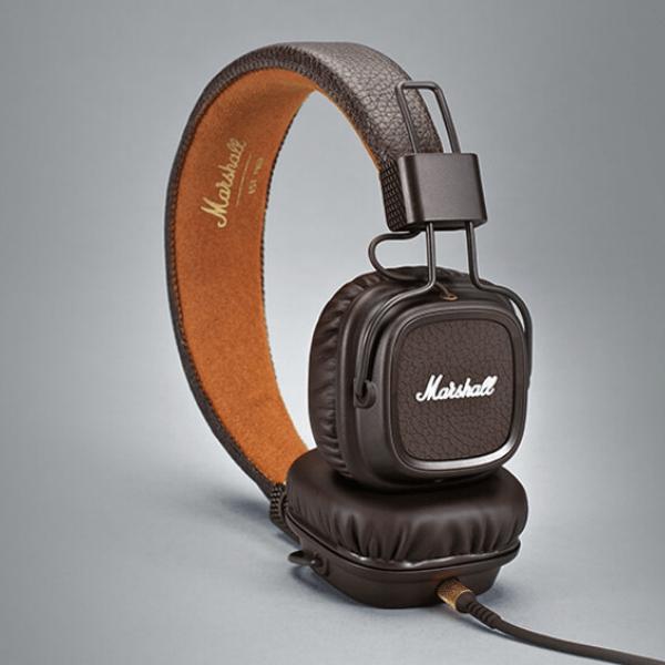 Luxusní sluchátka Major II – hnědé
