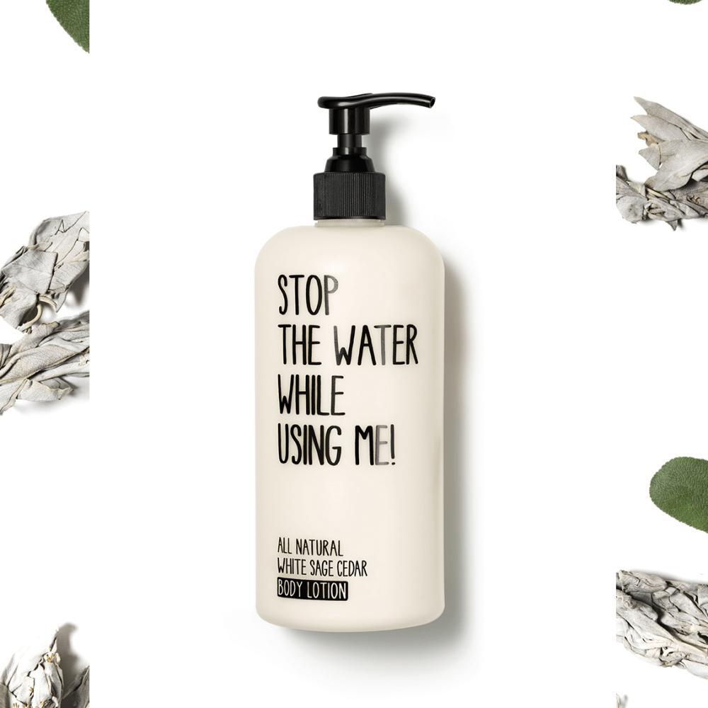 Tělové mléko Bílá šalvěj & Cedrové dřevo 200 ml - Stop the water while using me!