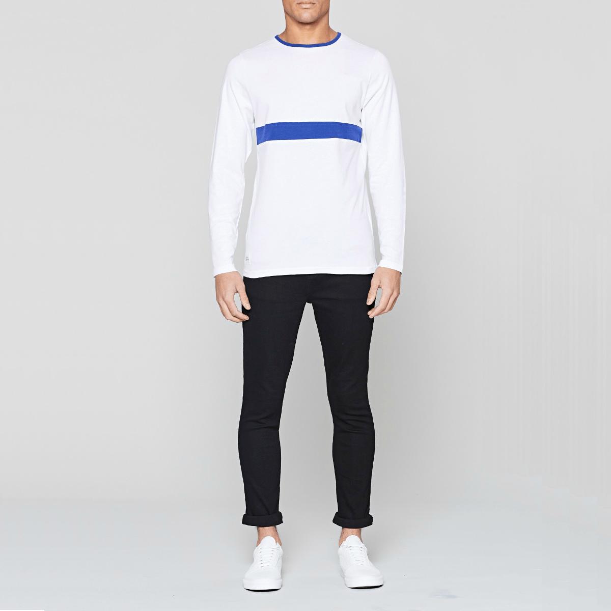 Bílé triko s dlouhým rukávem - Shanklin - S