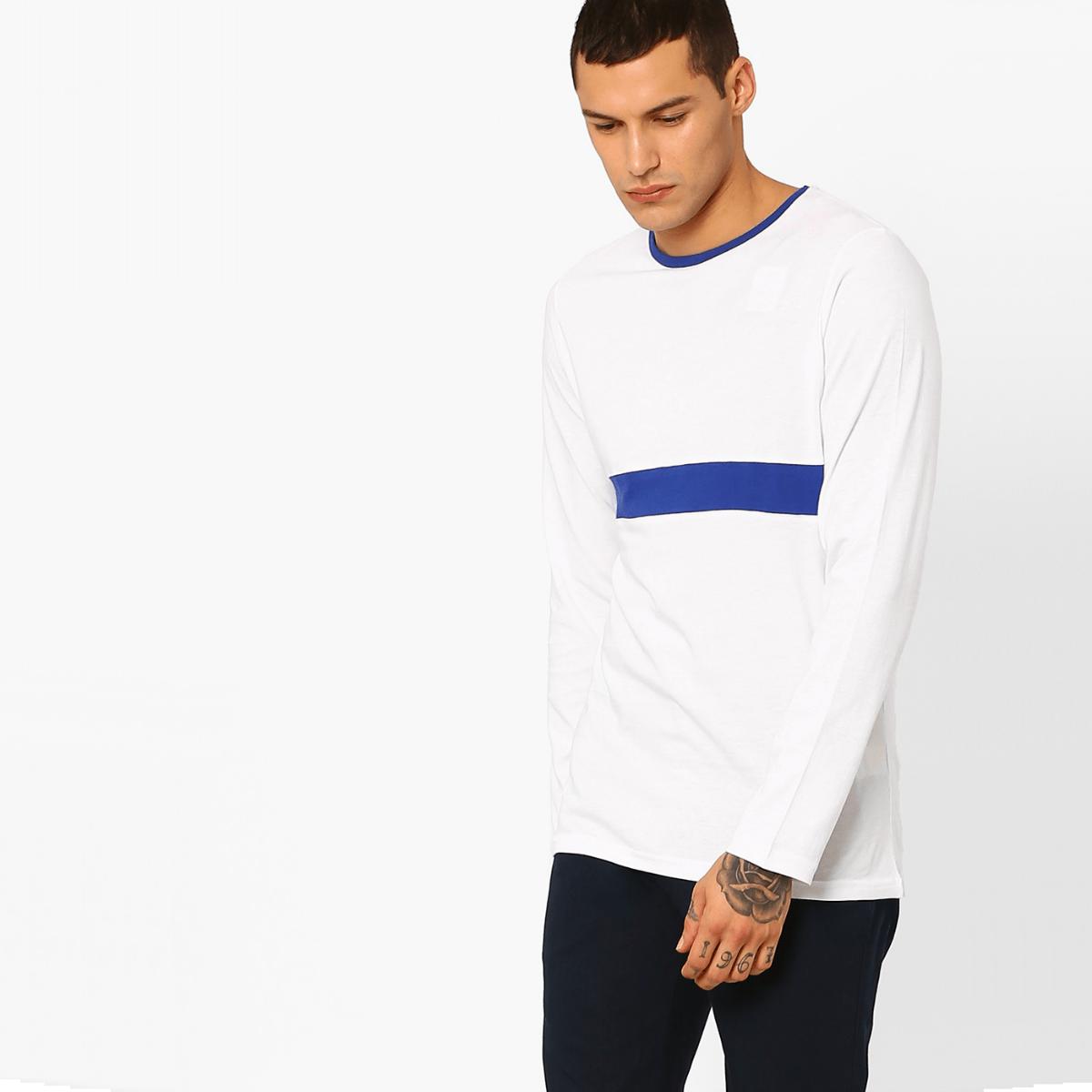 Bílé triko s dlouhým rukávem – Shanklin – S