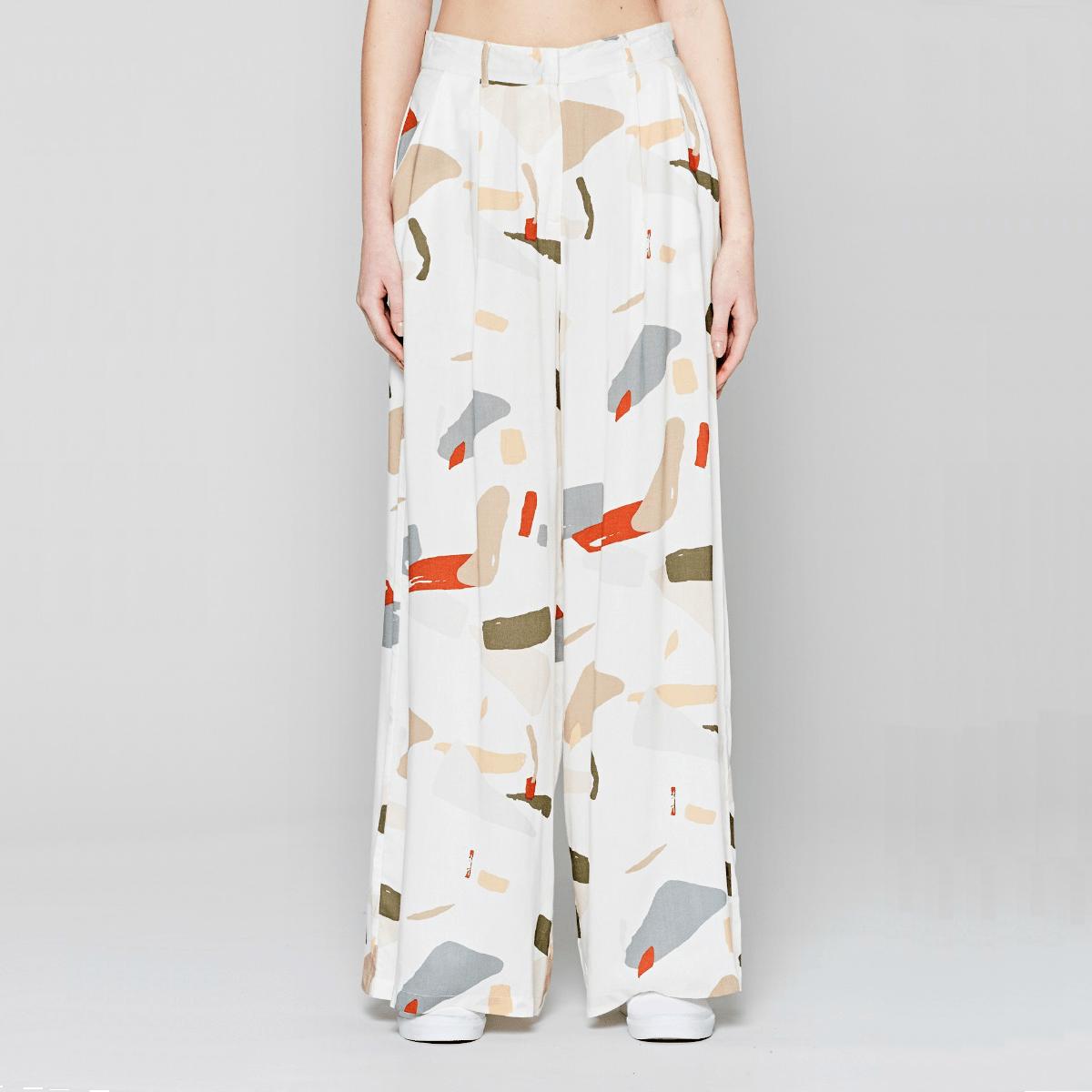 Bílé kalhoty - Organic Displacement - XS