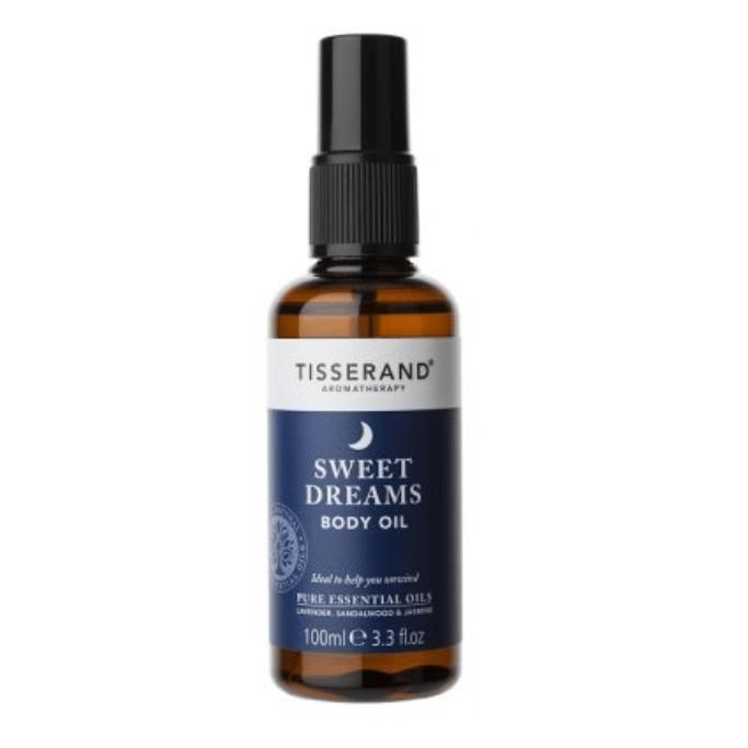 Luxusní tělový a masážní olej s levandulí a jasmínem pro klidný spánek Tisserand