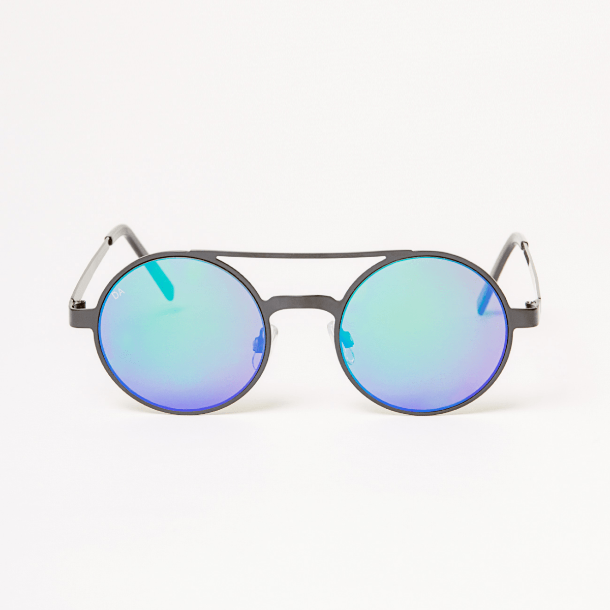 Kulaté brýle s stříbrnými skly Double Agent