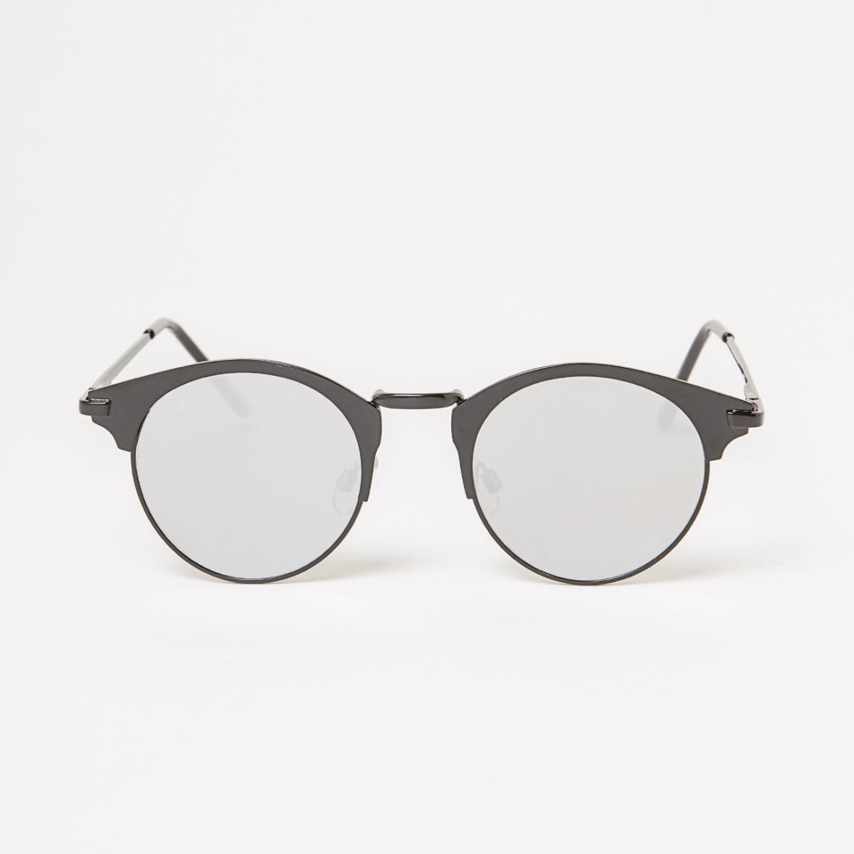 Kulaté brýle s černými skly Double Agent