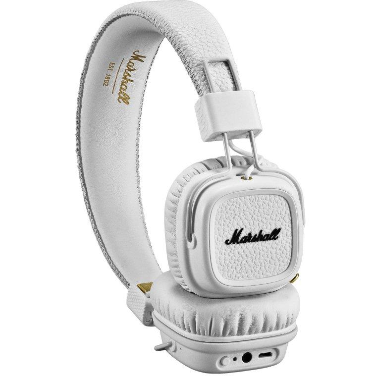 Luxusní sluchátka Major II bluetooth – bílé