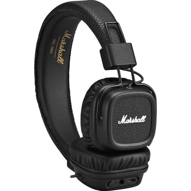Luxusní sluchátka Major II bluetooth - černé