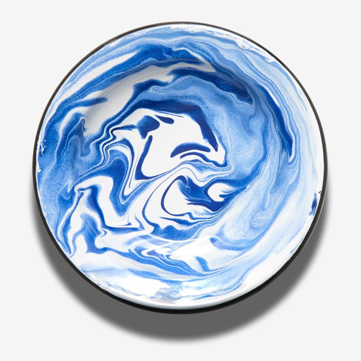 Hluboký modrý talíř BORNN