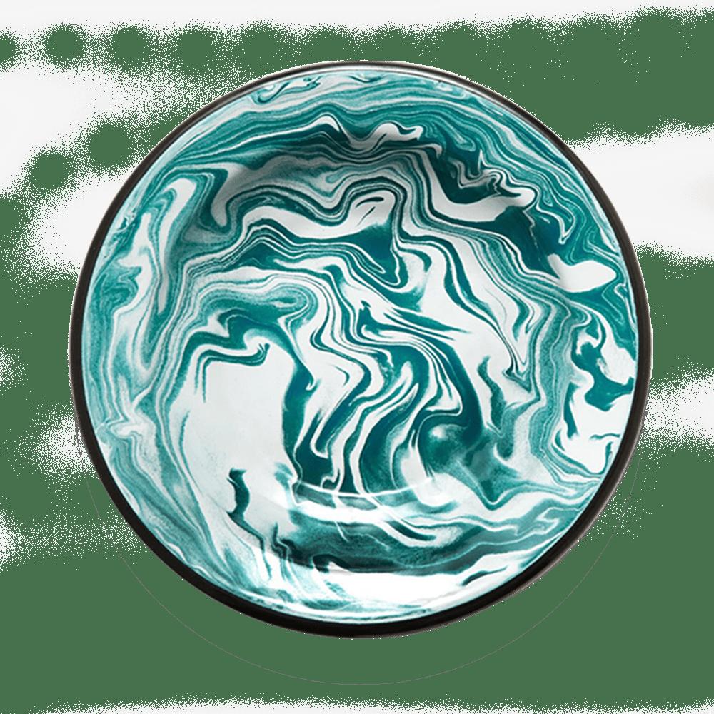 Hluboký tyrkysový talíř