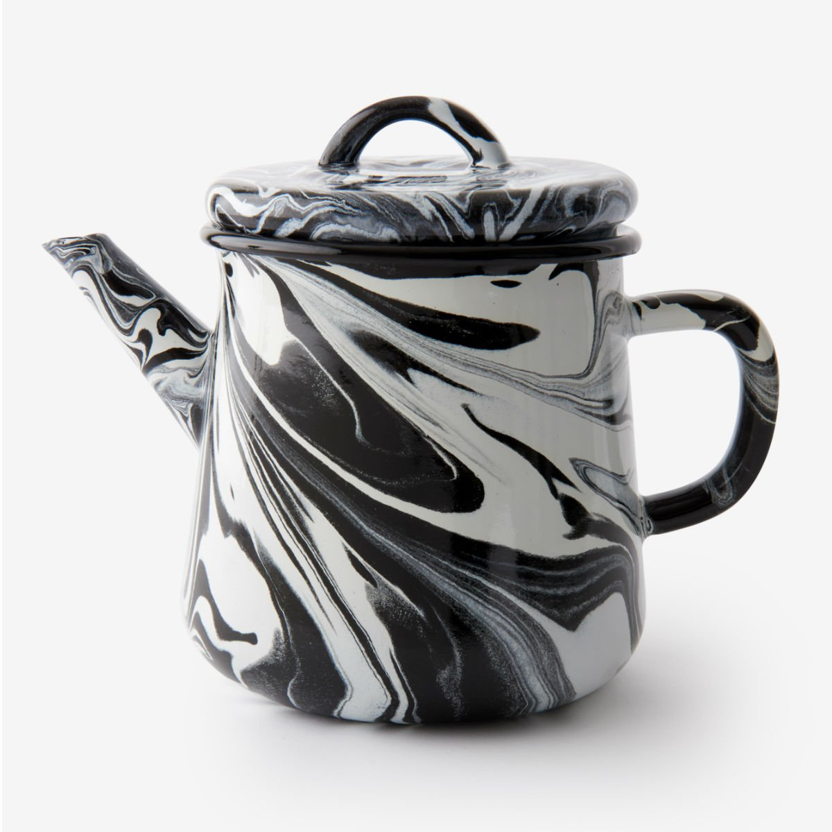 Černá smaltovaná čajová konvice