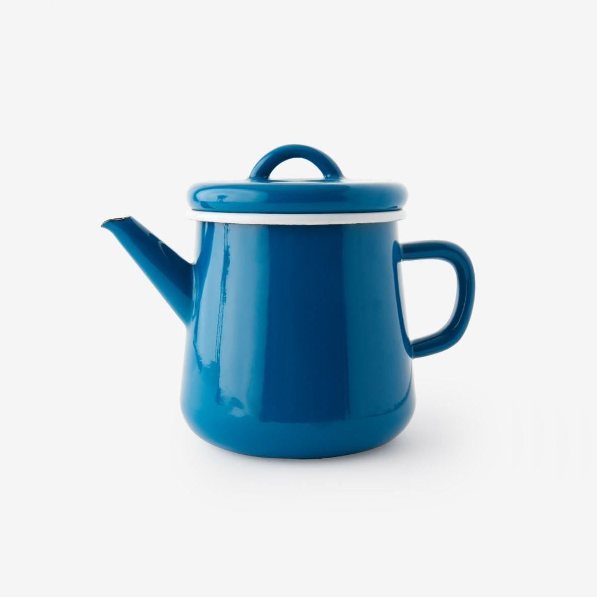 Modrá čajová konvice
