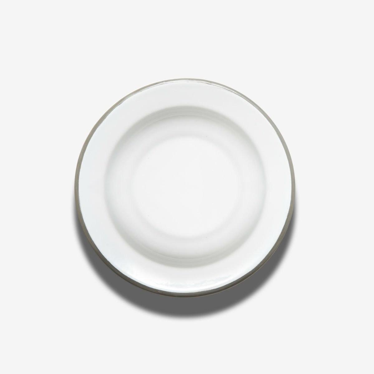 Hluboký talíř s šedou obrubou