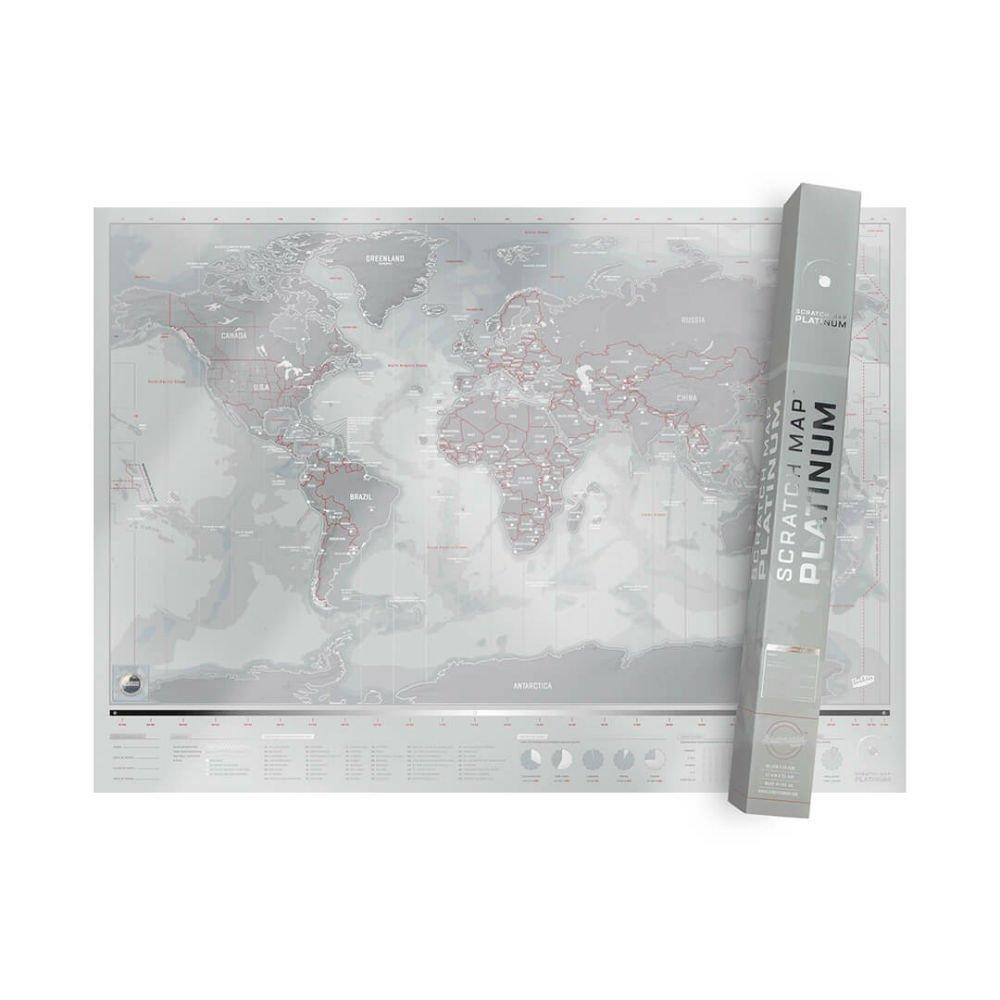 Stírací mapa Luckies Platinum Edition