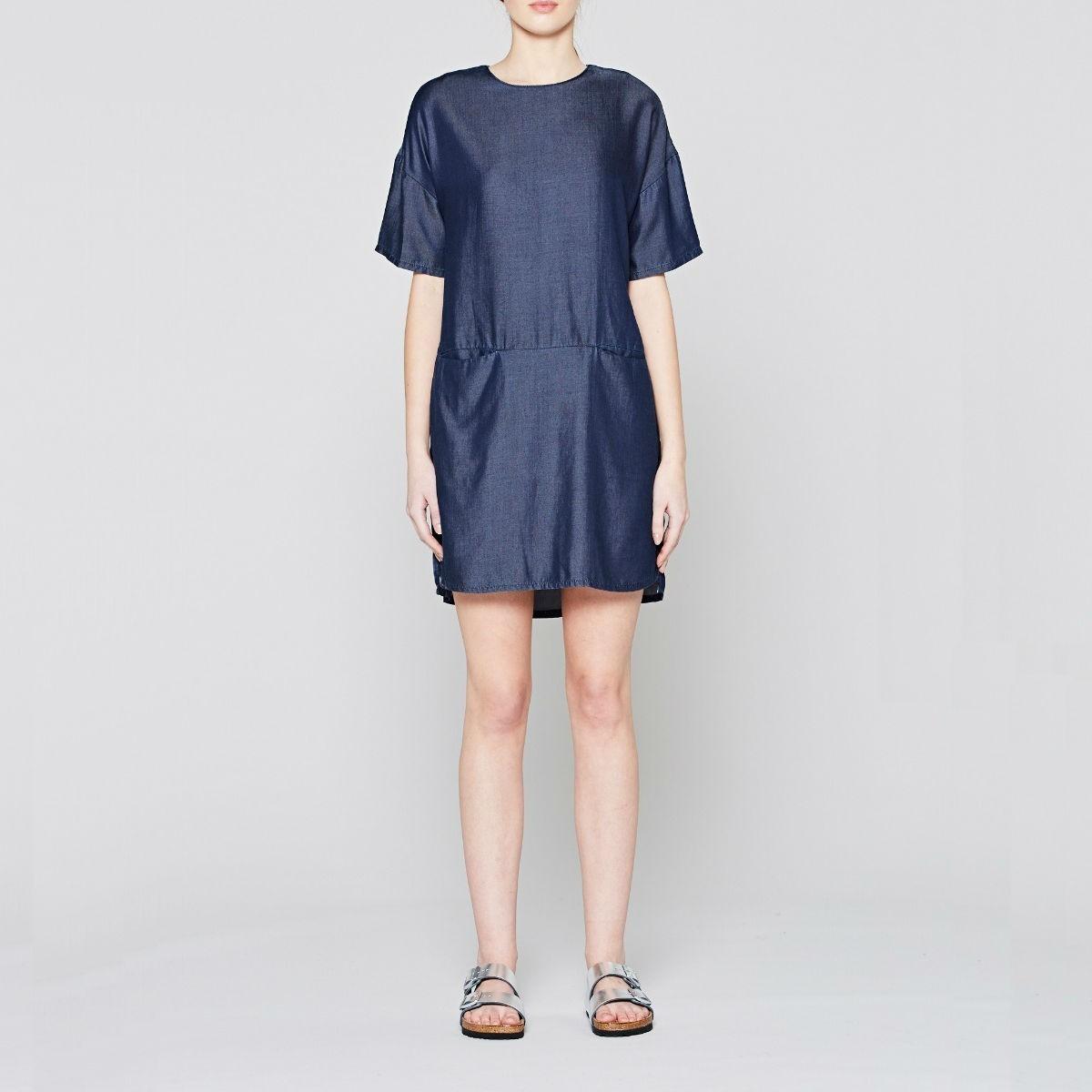 Modré džínové šaty - Abyssal - S