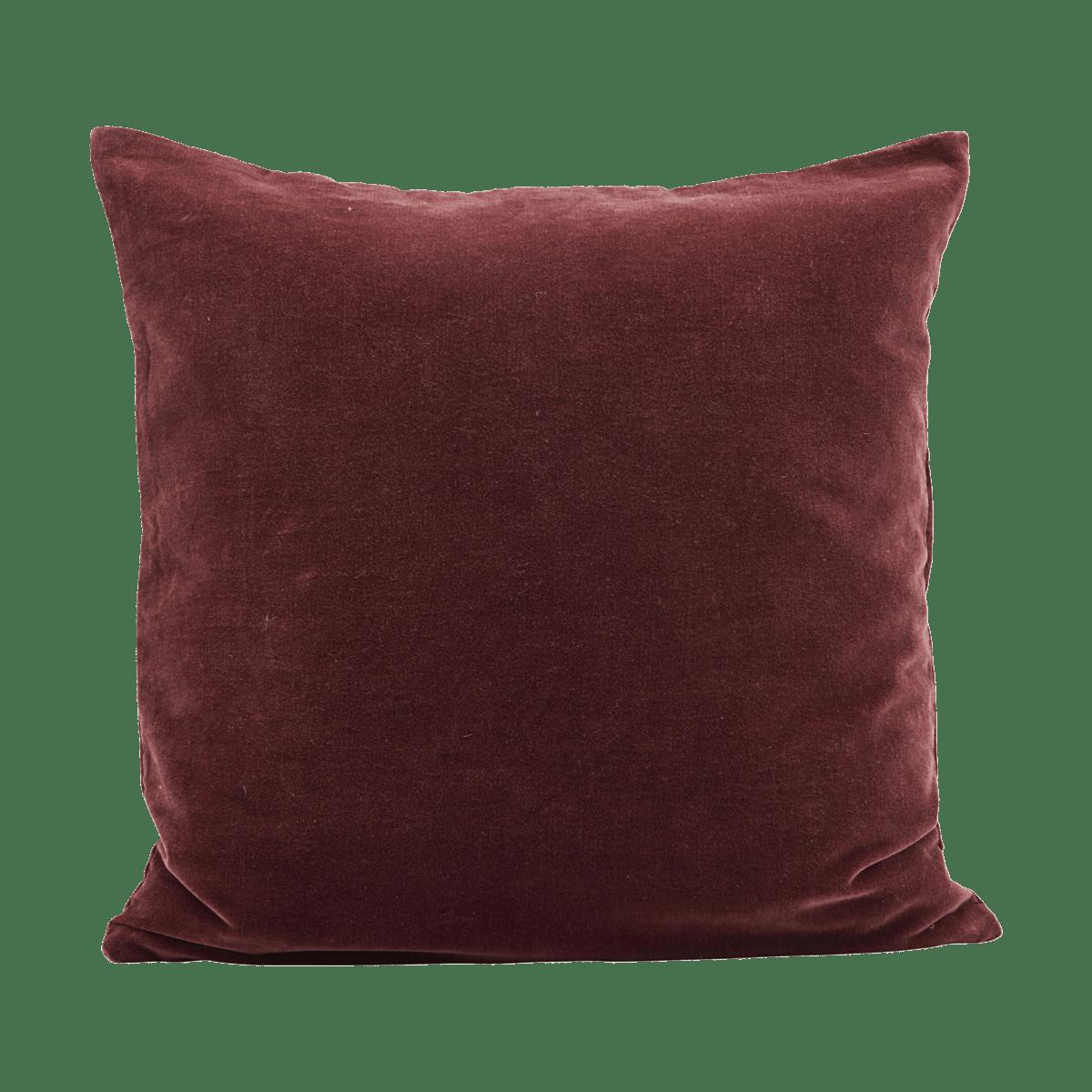 Tmavě červený povlak na polštář Velv
