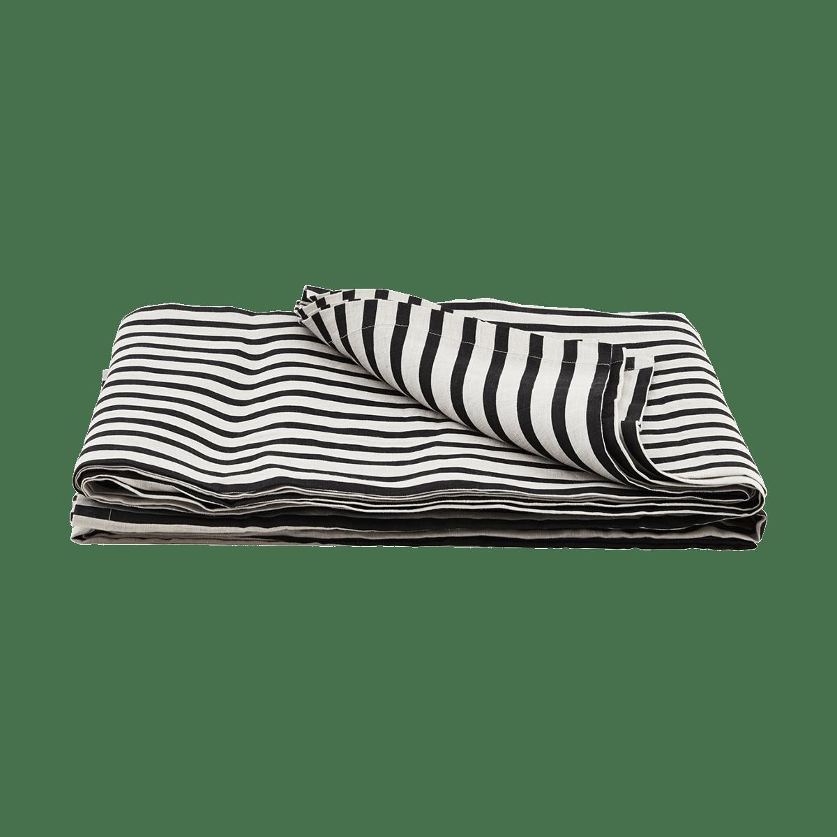 Černobílý přehoz přes postel Stripe