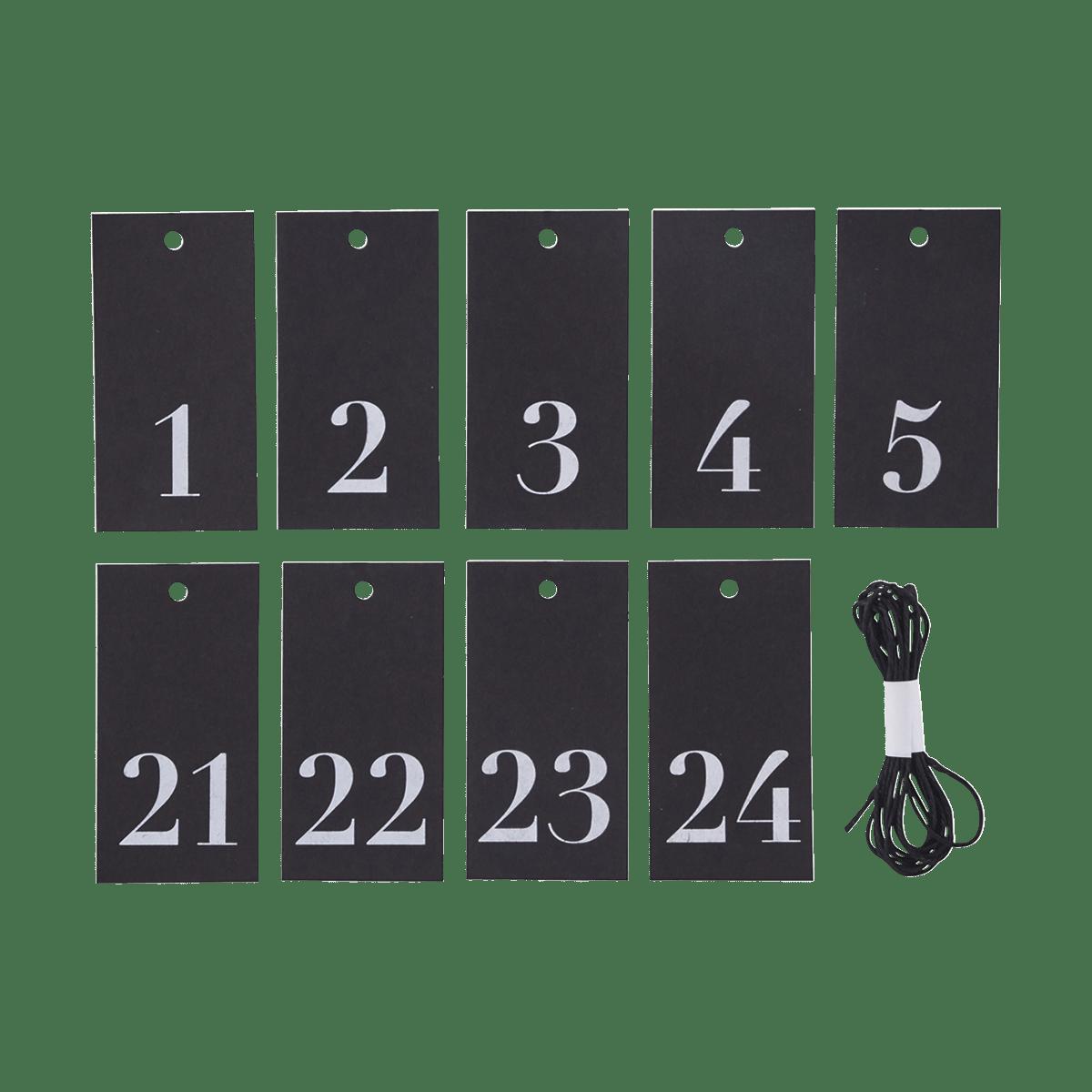 Dárkové štítky Numbers