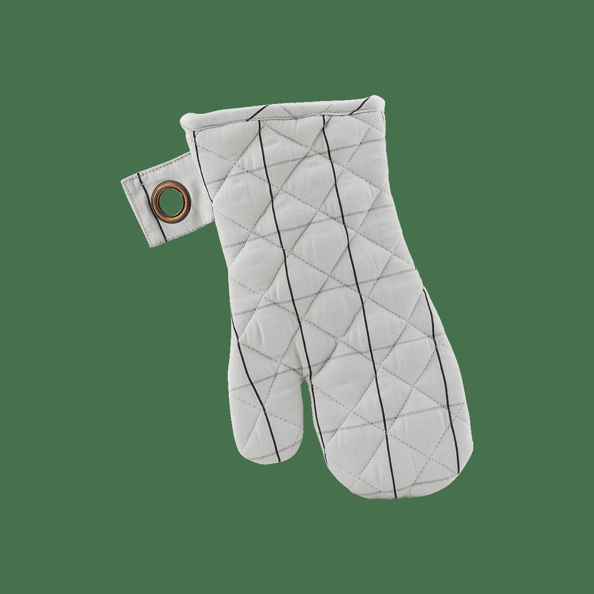 Bíločerná chňapka Check - set 2 kusů