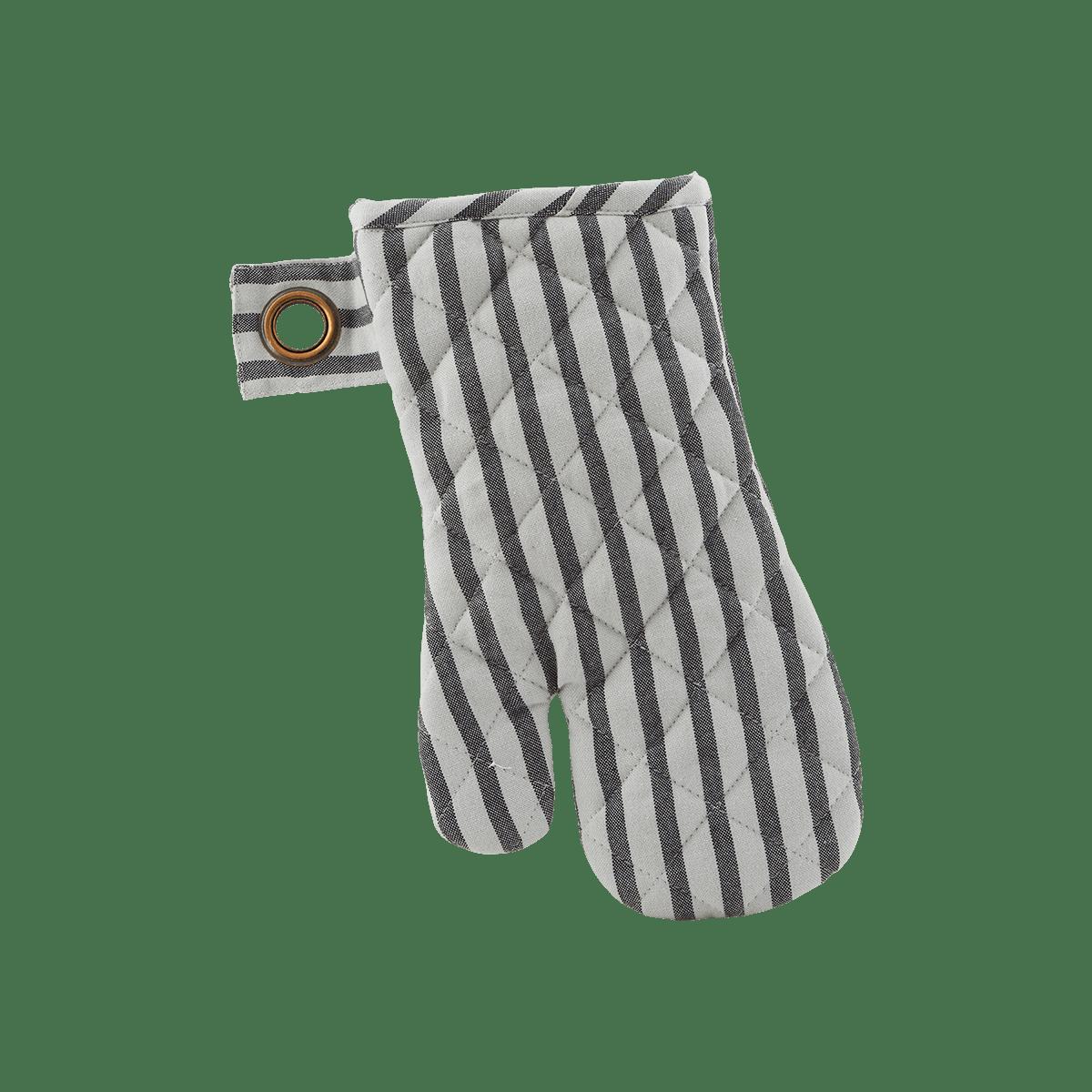 Bíločerná chňapka Stripe - set 2 kusů