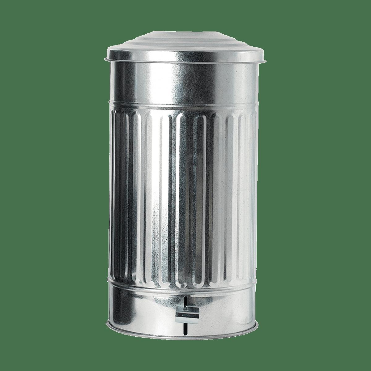 Zinkový koš na odpadky Ø25,5x48 cm