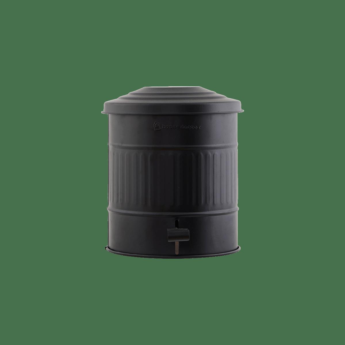 Matně černý koš na odpadky Ø25,5x30 cm