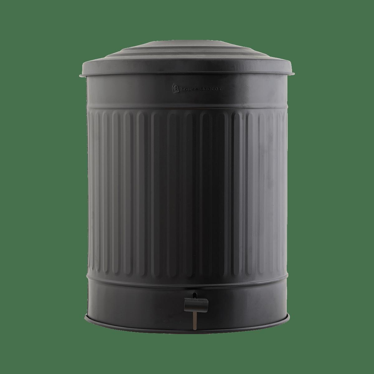 Matně černý koš na odpadky Ø37x48 cm