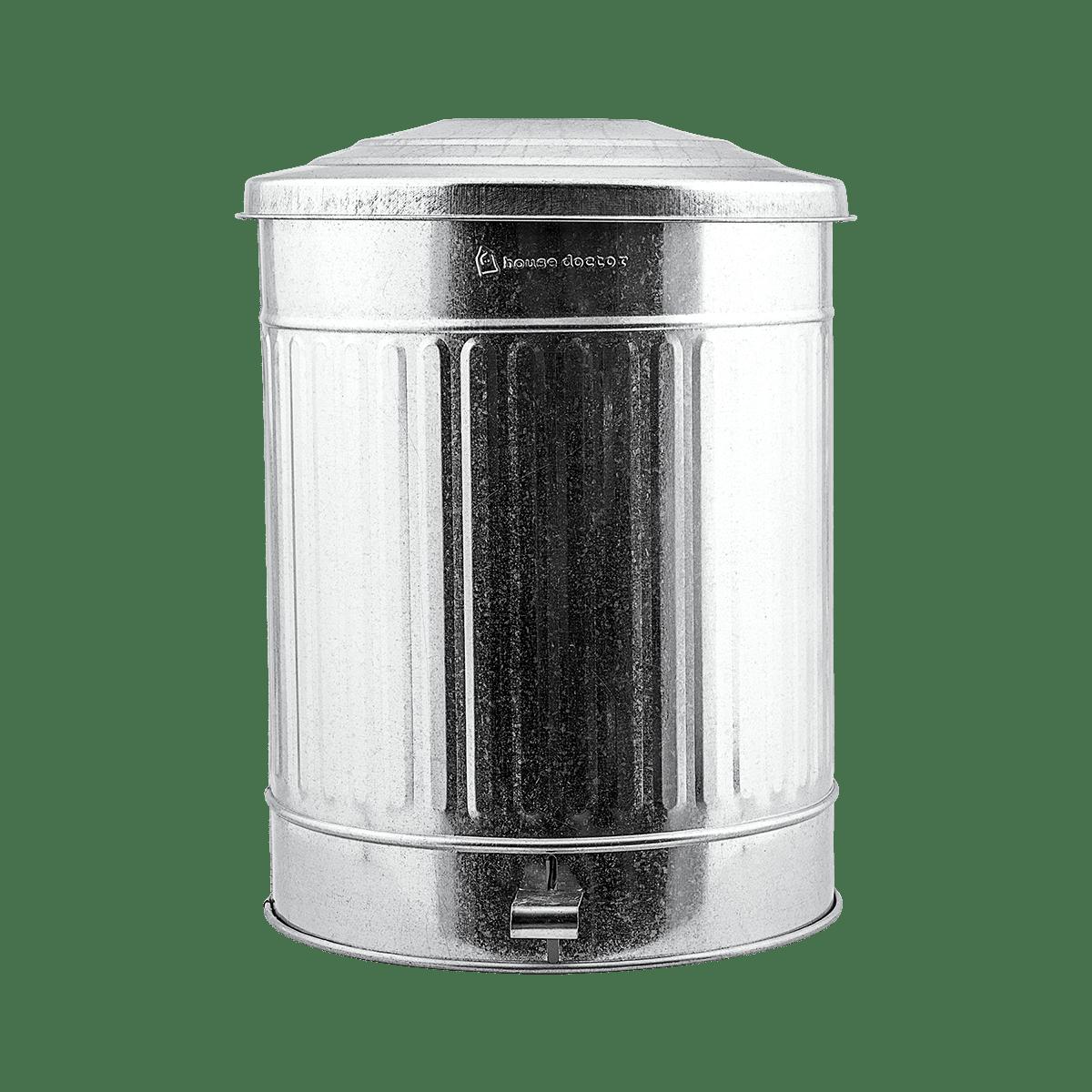 Zinkový koš na odpadky Ø37x48 cm