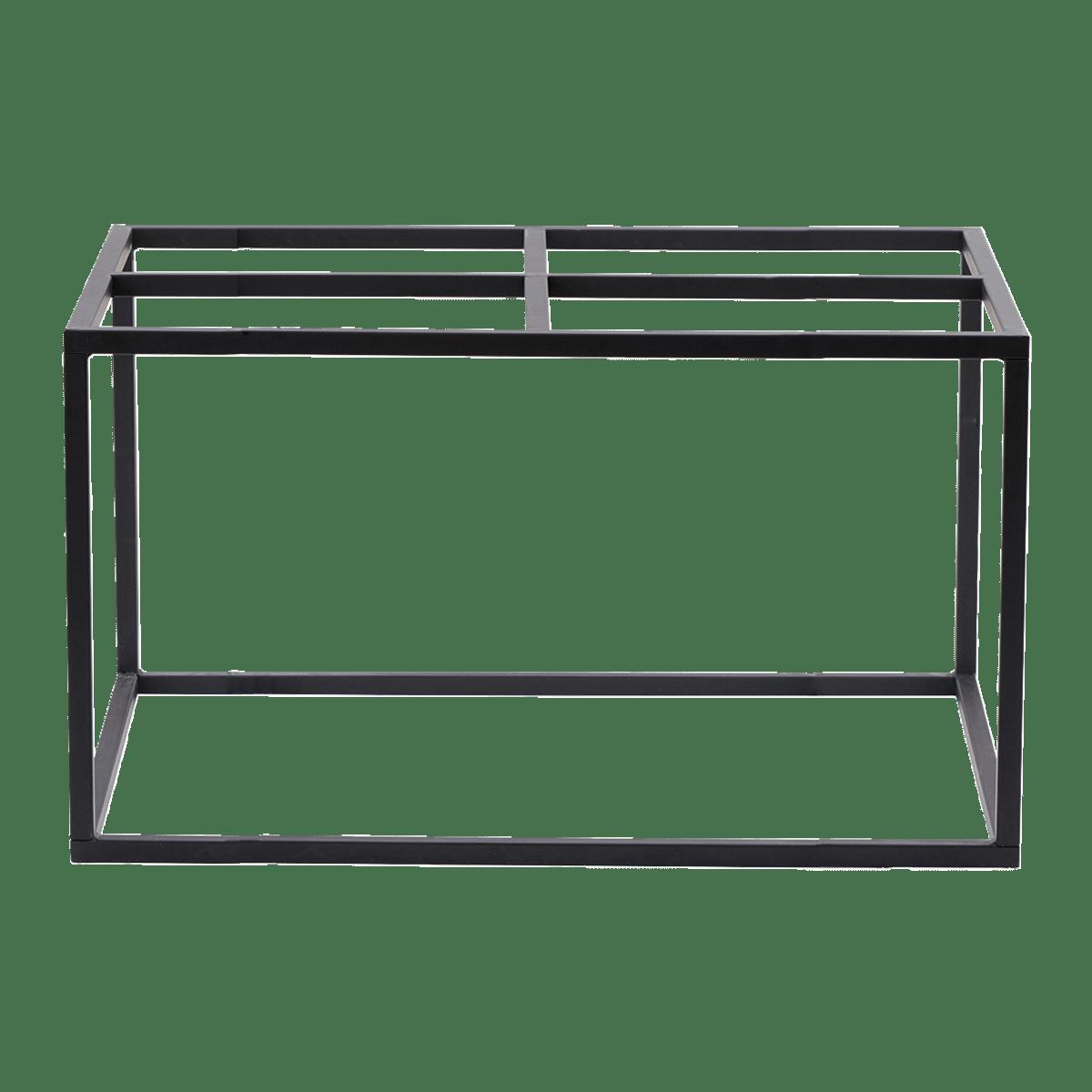 Matně černá základna stolu 100x100x45 cm