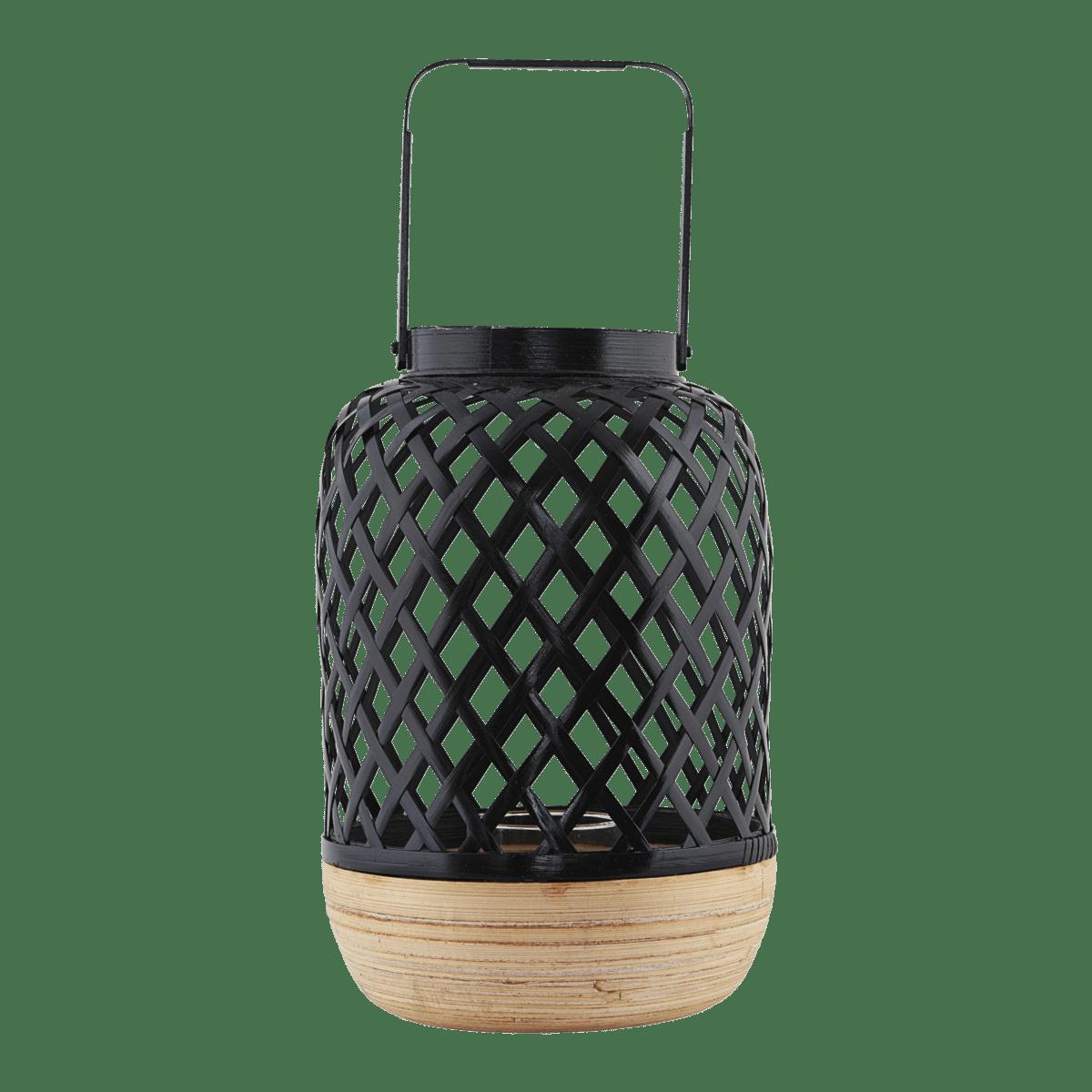 Černá lucerna Breeze Ø12/20x30/41 cm
