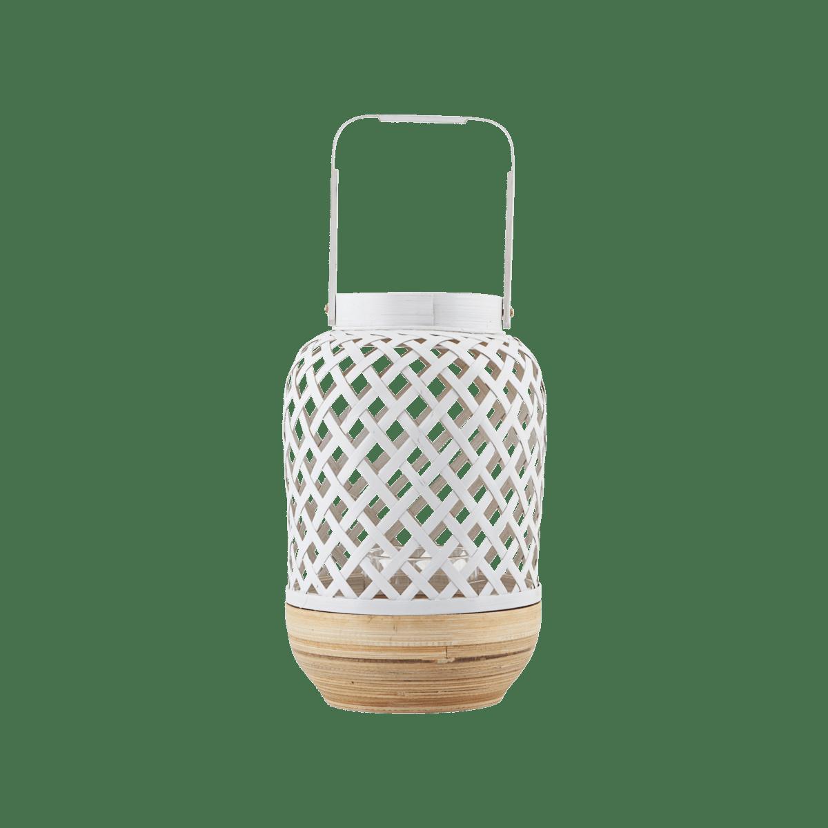 Bílá lucerna Breeze Ø10/15x24/34 cm