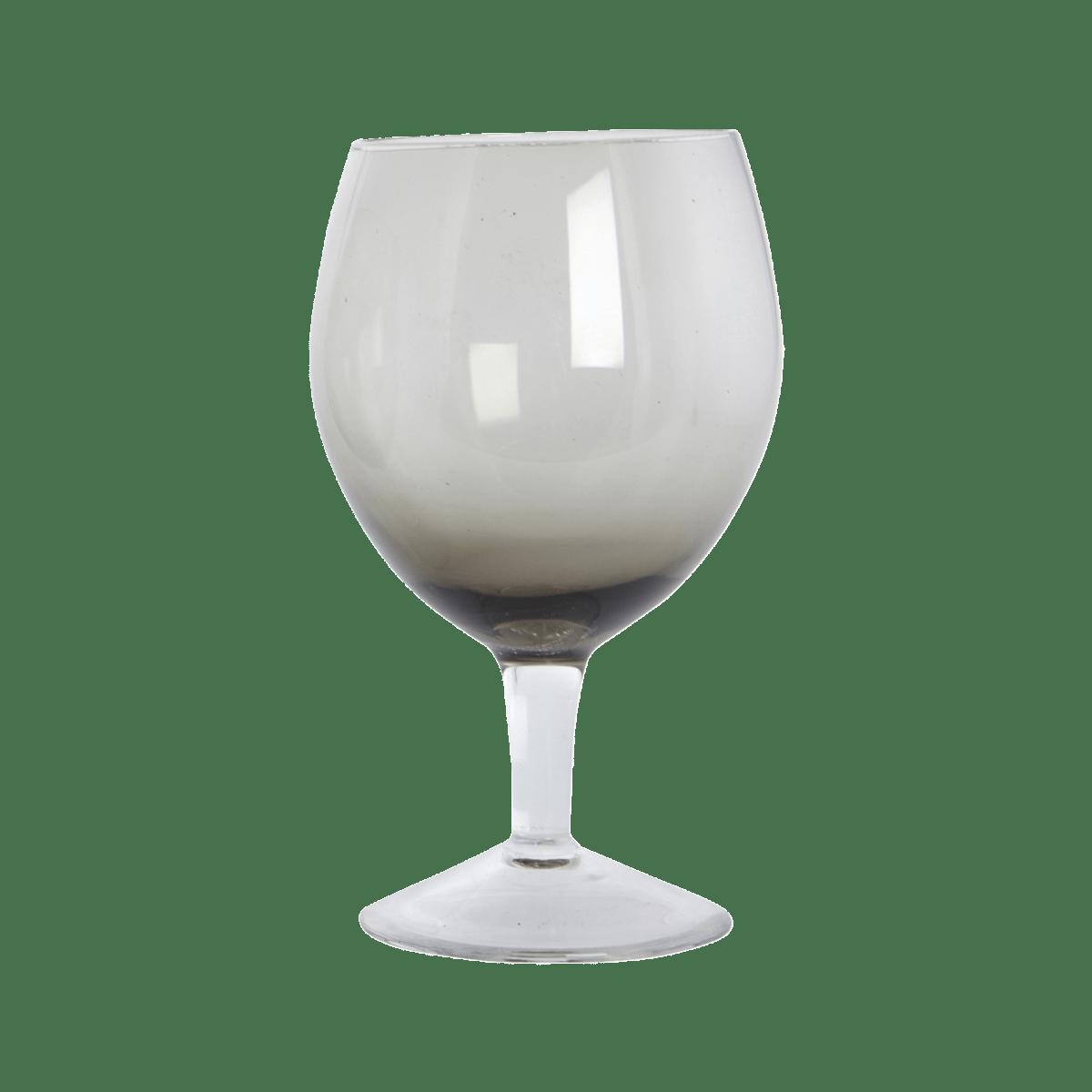 Šedá sklenička na víno Ball