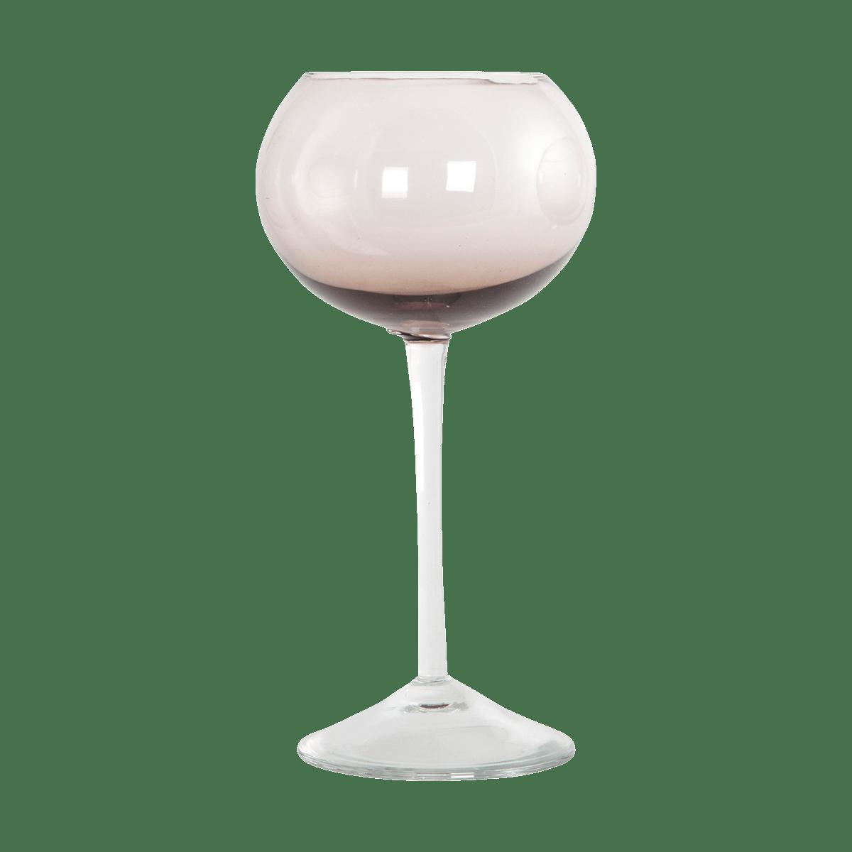 Purpurová sklenička na víno Ball Ø10x20 cm
