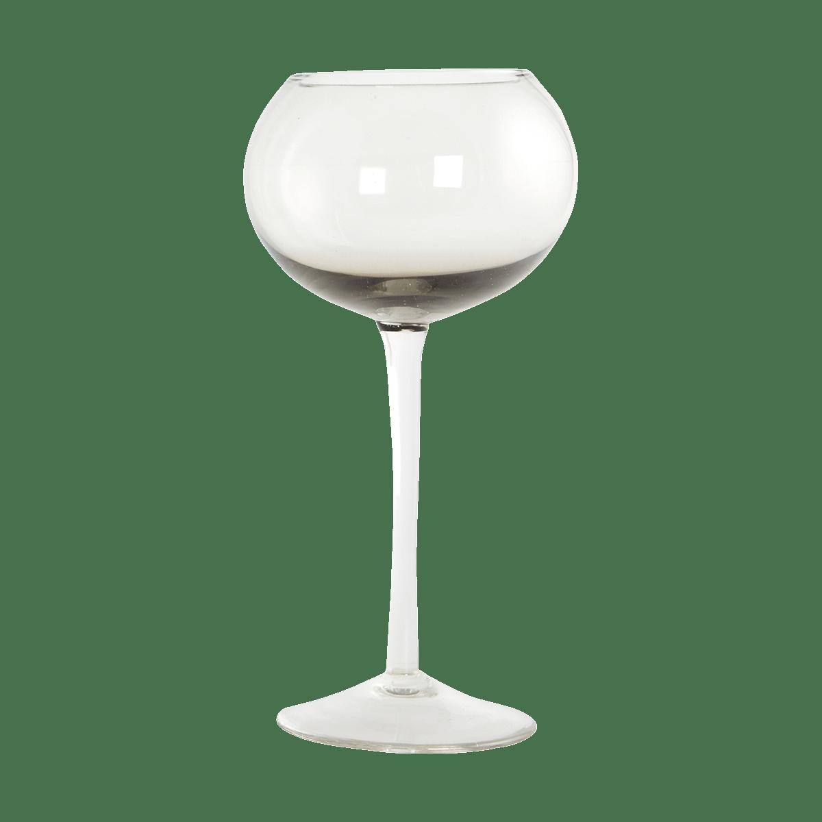 Šedá sklenička na víno Ball Ø10x20 cm