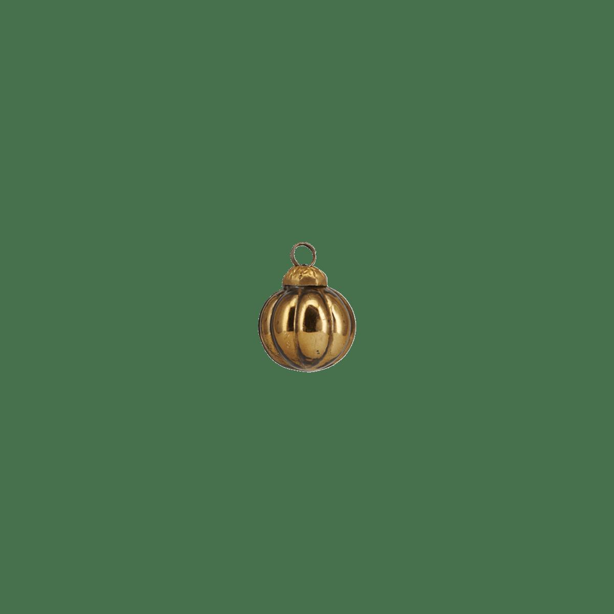 Zlatá ozdobná baňka Thiny